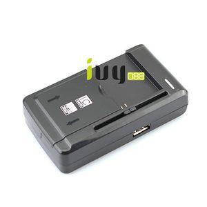 5pcs / lot العالمي USB الجدار شاحن السفر سطح المكتب قفص الاتهام شاحن بطارية الهاتف + الاتحاد الأوروبي التوصيل لسامسونج هواوي إتش تي سي إل جي سوني نوكيا بطاريات