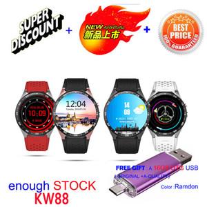 2016 montre intelligente kw88 kingware usine d'origine Android 5.1smartwatch MTK6580 montre-bracelet 4G ROM GPS WIFI Bluetooth 3G montre-bracelet