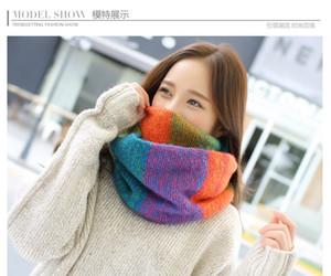 Bague femmes foulards tricoté col de laine Cowl Wrap châle épaissir hiver chaud Bague foulard