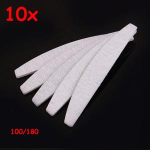 10PCS eva sans papier de ponçage japon manucure de bonne qualité professionnelle 100/180 zèbre gris demi-lune lime à ongles pour le salon