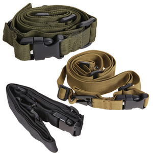 Nylon Durable Tactique 3 Point Rifle Sling Réglable Bungee Sling Swivels Airsoft Chasse Gun Gun En Gros