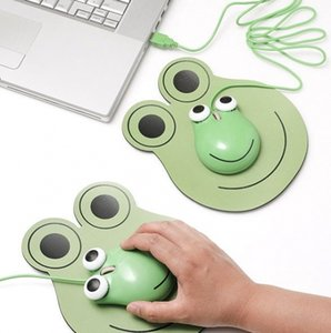 En gros Drôle Enfants Mini Bande Dessinée 3D Grenouille en forme USB Filaire Souris Optique Souris Pour Ordinateur Portable PC Gratuit DHL