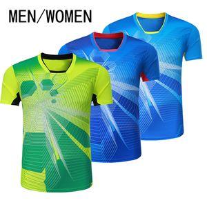 Nova jaqueta de badminton, homens de manga curta, camisas femininas, camisas de tênis, camisetas, secagem rápida, roupas esportivas respiráveis