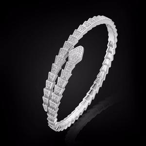 Yahan superiore gioielli di qualità di rame micro impostazione pave con ampio multa trapano serpente braccialetto braccialetto micro zircone è costellato di intarsi in ottone