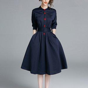 Novos vestidos casuais para as mulheres vestido de escritório senhoras camisa vestido de festa longo plus size roupas femininas cintura africano vestidos de roupas de mulher