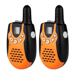 Pari Mini Walkie Talkies Ricetrasmettitore radio portatile a 2 vie PMR446 FRS / GMRS LCD Walkie talkie arancio giocattoli ricetrasmettitore portatile portatile per bambini
