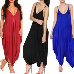2016 Summer Womens Harem Romper Jumpsuit Coveralls Spaghetti Strap과 Deep V 넥의 여성복을 입은 Playsuit 섹시한 Backless Loose Jumpsuit