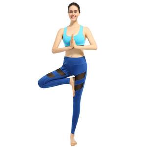 free shipping sport pants Women Yoga Pants Mesh Patchwork Pencil Pants Elasticity Slim Jeggings Ladies Leggins Pantalon Stretch Femme