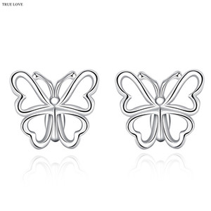 925 brincos de prata borboleta moda jóias para as mulheres estilo minimalista charme fábrica global quente por atacado barato frete grátis