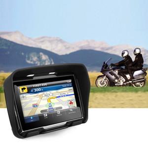 Frete grátis 4,3 polegadas motocicleta GPS, carro GPS de navegação, impermeável, memroy interna de 8GB, Bluetooth, BT + Mapas