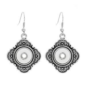 12mm boutons-pression bouton, alliage de zinc Croix forme 12mm bouton-pression boucles d'oreilles dans les bijoux pour les femmes
