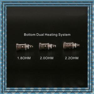 Vente chaude E-cigs Bobines Atomisation noyau inférieur double système de chauffage Pour H2S PTS01 GS Vcore III atomiseur durable de haute qualité Seiko DHL gratuit