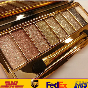 Shimmer Diamond Eyeshadow For 9 Color New Waterproof Eye Shadow Palette Makeup Cosmetic Brush Set HH-E04
