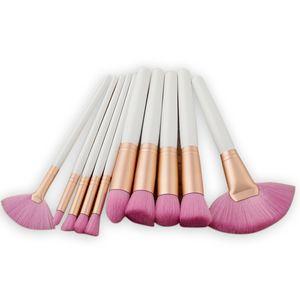 Nuova spazzola di trucco di fascia alta Spazzola a forma di ventaglio Pennello per ombretto fondo Pennello per arrossire Pennello per trucco nero Maquillage