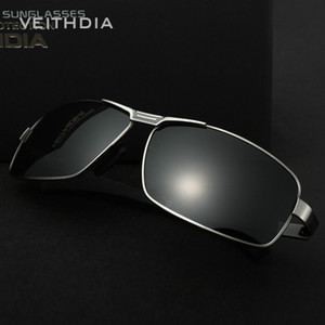 Neue ankunft VEITHDIA Polarisierte Sonnenbrille Männer Marke Designer Vintage Männliche Fahren Sonnenbrille Mode Eyewear Retro Brille