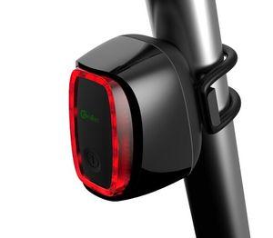 Bicicleta inteligente traseira traseira levou Luz recarregável controle Sem Fio À Prova D 'Água projeto luzes da bicicleta frete grátis