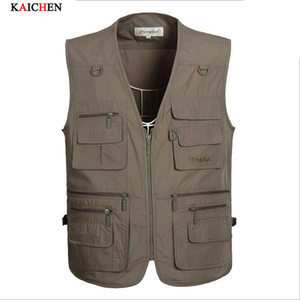 Fall-Factory wholesale Summer Men Multifunctional  Vest Sleeveless Jackets Coats Outdoor Camping Clothes Photography Vest