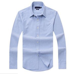 Yeni satış ünlü gümrük Casual gömlek Popüler Golf nakış iş Polo gömlek Erkekler uzun kollu Giyim sığacak