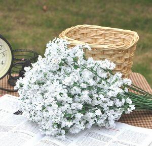 Flores artificiais Gypsophila Baby's Breath Flores De Seda Falso Planta Casa Festa de Casamento de Natal Flores Decorativas Decoração