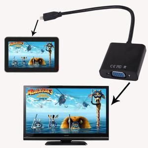 Mini / micro HDMI vers VGA Câble micro / mini HDMI mâle vers VGA Câble vidéo femelle Adaptateur de convertisseur de cordon pour PC portable * 50pcs / lot