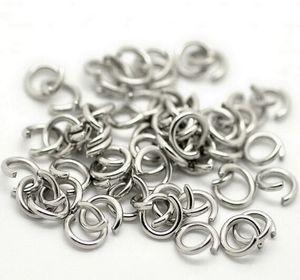 1000pcs / Lot Altri accessori di risultati dei monili di formato Anello d'argento d'argento forte Anello spaccato Anello di gioielli di DIY che trova le componenti