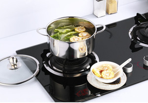 1000 ml Yeni Paslanmaz Çelik Mutfak Pişirme Ile Güveç Hollandalı Fırın Indüksiyon Ocak Için Kapaklı Iki Kapaklı