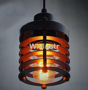 Vintage CAGE FILAMENT PENDANT lamp industrial lighting Country style Dining Room Lving Room Bar Light pendant lights