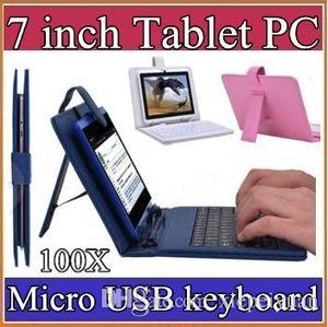 100X Opzionale tastiera universale Custodia in pelle tablet di protezione flip Micro USB per HP Slate 7 7inch Case 1-JP