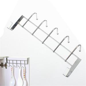 Großhandels-5 Haken Edelstahl über Tür Hauptbadezimmer-Küchen-Mantel-Tuch-Schleifen-Aufhänger-Zahnstangen-Halter-Regal Hochwertig