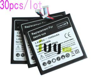30pcs/много 2500мАч B0PFH100 аккумуляторная батарея для HTC Desire глаз M910X M910n батареи Батарея Batteria
