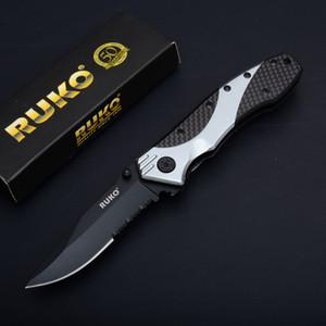 Maneja el cuchillo plegable de la supervivencia Promoción 3Cr13 titanio punto de la gota serró aluminio de la lámina del EDC cuchillos de bolsillo de engranaje táctico
