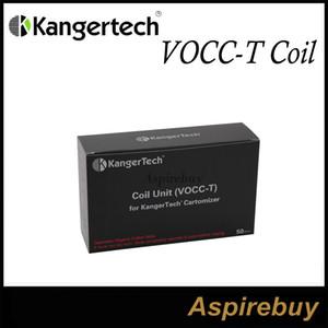 Kanger Vocc-T Coil Kanger VOCC-T Atomizador Head Suit para todo KangerTech Dual Coil Atomizer Organic Cotton 1.5ohm para TOPTANK EVOD Original