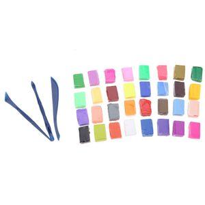 32 farben diy handgemachte ton schlamm polymer clay fimo modellierung block knetmasse kinder flasticine spielzeug mit kostenlosem dreiteiligen werkzeug