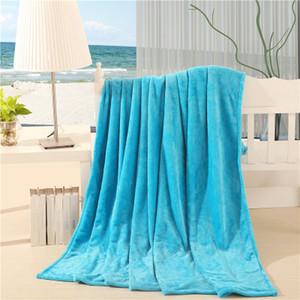 Tamaño grande Súper Suave Microplush Manta de cama Sólido Sólido color puro Manta a cuadros Platos de cama para la cama regalo