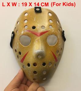 Neue Cosplay Make Old verdicken Freitag Die 13. Jason Voorhees Freddy Hockey Maske für Kinder Größe