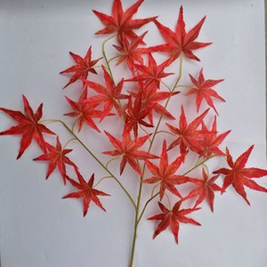 Artificial folha de bordo folha de seda casa casamento scrapbooking jardim diy decoração folhas de látex decoração ao ar livre folhas