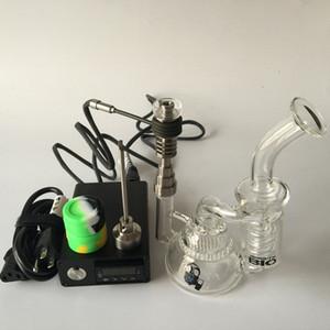 2016 Kit de Prego Digital Elétrica Para DIY Coil Fumante Atualização 6 in1 Ti / Qtz Prego Hybird com Bongo De Vidro De Cera De Vapor De Erva Seca
