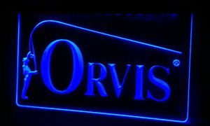 LS095-b Orvis Fly Fishing Rod poisson Reed Neon Light Sign