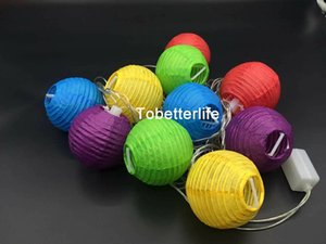 Round Chinese Paper Lanterns 2w 10pc swedding lantern wholesale 4m Diameter 7.5cm Birthday Wedding Party decor gift craft DIY with end-joint