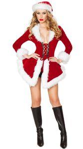 Miss Santa Claus Costume Womens Mrs Pai Natal Xmas Fancy Dress Outfit ZL