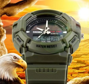Wholesale Men Leisure Outdoor Sport Watches Solar Power Dual time Chrono 5ATM Waterproof Wrist Watches 1050