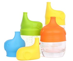 Silicone Sippy Lids for baby drinking Silicone Sippy Lids Make Most Cups Sippy Leak Proof elephant design Anti-overflow cup lid