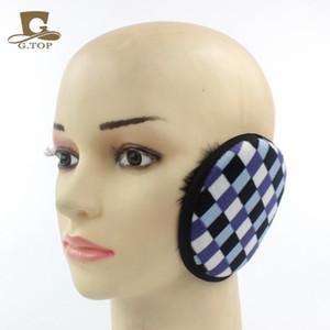 Wholesale-2016 الشتاء أزياء للجنسين النساء الرياضة منقوشة غطاء للأذنين earcap الأذن أدفأ شتاء دافئ أفخم الأذن يفشل للرجال