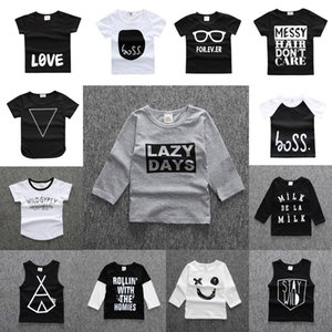 14 Styles Baby INS T shirt New Boys Girls Cartoon Cotton Shirts Kids Short & Long Sleeve Tops Spring Summer Popular T-shirt
