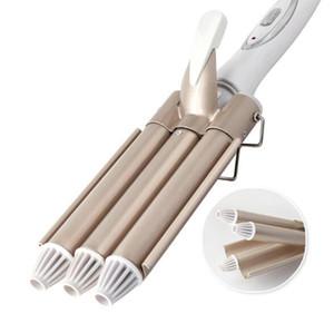3 Triple Barrel céramique bigoudi électrique Fer à friser Baguette Salon Curl Waver Rouleau Outils de cheveux 110-220V