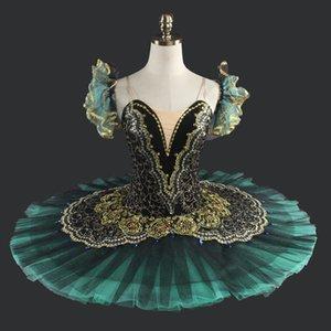 Traje de tutú clásico del ballet clásico del cisne negro del adulto Ballet profesional del ballet del tutú negro del ballet clásico para el funcionamiento LD8941