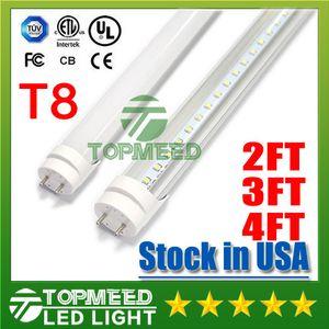 Stock de EE.UU. UL 1,2 m 2FT 3 pies 4 pies T8 18W 20W 22W llevó la luz del tubo 2400lm 110-240 llevó la iluminación de la lámpara de tubo fluorescente