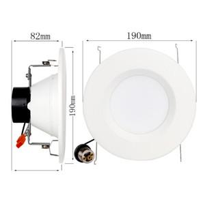 Éclairage encastré à LED encastré Downlight Triac dimmable American Downlight Downlight encastré de 5 pouces / 6 pouces en aluminium 12W