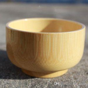 الأطفال أدوات المائدة الطفل الخيزران عاء الصفات الطبيعية من الخشب دون الطلاء حساء خشبي صغير عرض الكورية
