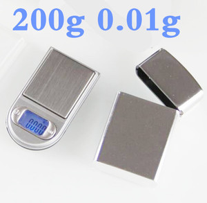 200 g x 0,01 g elektronische Mini-LCD-Digital-Taschenfeuerzeug-Waage Schmuck Gold-Diamant-Gramm-Waage mit Hintergrundbeleuchtung